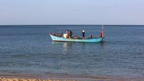 Fishermen at Phu Quoc island, Kien Giang province, Vietnam. Fishermen on seashore, Phu Quoc island, Kien Giang province, Vietnam. Phu Quoc is blessed with stock video footage