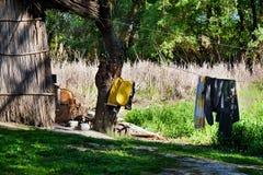 Fishermen place. In Danube delta , Romania Royalty Free Stock Photos