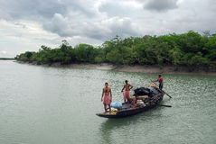 Fishermen on The River Stock Image