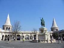 Fishermen's Bastion. At the Fishermen's Bastion in Budapest, Hungary Royalty Free Stock Photos