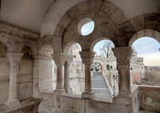 Fishermen`s Bastion in Budapest. stock images