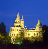 Fishermen's Bastion by night in Budapest Stock Images