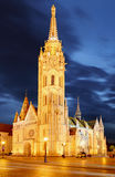 Fishermen's bastion at night in Budapest, Hungary Stock Photography