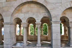Fishermen's Bastion in the summer. Architectural details. Budapest, Hungary. Fishermen's Bastion in the summer. Architectural details. Budapest, Hungary Stock Photography