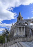 Fishermen's Bastion, and walking tourists.Budapest Stock Photography