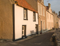 Fishermen's cottages. Picturesque fisherman's cottages in the village of Pittenweem in the East Neuk of Fife, Scotland, UK, Europe Royalty Free Stock Image