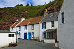 Fishermen`s cottages in the village of Pennan Stock Image