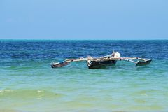 Fishermen`s dhow stock photography
