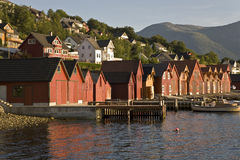 Fishermen's docks in Norway Stock Photography