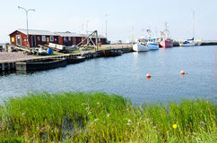 Fishermen´s harbor. A fishermen´s harbor on the island Oland in the Baltic Sea Stock Photo