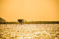 Fishermen's huts Royalty Free Stock Photography