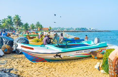 The fishermen`s job Royalty Free Stock Images