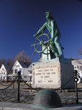 The Fishermen's Memorial. Memorial to the sailors and fishermen that have been lost at sea in Gloucester, Massachusetts Royalty Free Stock Photo