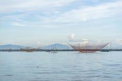 Fishermen's nets at Cua Dai near Hoi An, Vietnam Royalty Free Stock Photo