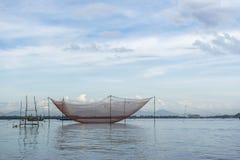 Fishermen's nets at Cua Dai near Hoi An, Vietnam Stock Photography