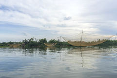 Fishermen's nets at Cua Dai near Hoi An, Vietnam Stock Image