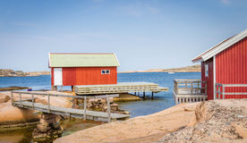 Fishermen's shed in Bohuslän, Sweden Royalty Free Stock Images