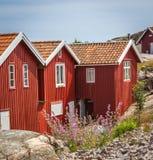 Fishermen's shed in Bohuslän, Sweden Stock Photography