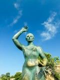 Fishermen's wife sculpture in Lloret de Mar Stock Photos
