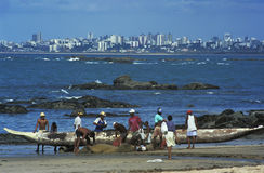Fishermen, Salvador, brazil. Royalty Free Stock Photos