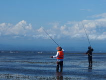 Fishermen in Sanur Royalty Free Stock Photo