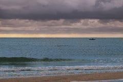 Fishermen and Sea Royalty Free Stock Photo