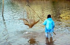 Fishermen. At Sea Lake, Gia Lai, Viet Nam Stock Images