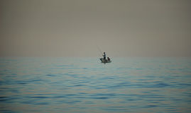 Fishermen at sea Stock Photo