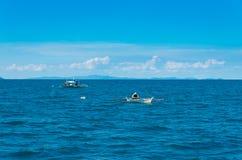 Fishermen on sea Royalty Free Stock Photography