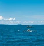 Fishermen on sea Royalty Free Stock Image