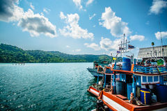 Fishermen sea Thailand Royalty Free Stock Photo