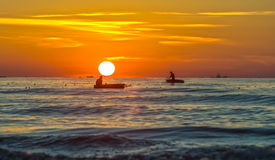 Fishermen set sail early marine livelihoods Stock Images