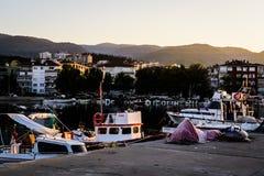Fishermen Shelter On The Old Marina Royalty Free Stock Photos