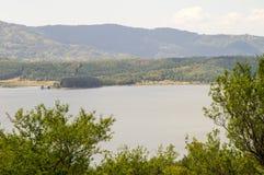 Fishermen on the shore of Lake Vlasina in Serbia Stock Image