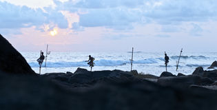Fishermen from Sri Lanka Stock Photography