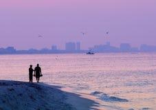 Fishermen at sunrise Royalty Free Stock Images