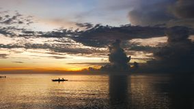 Fishermen at Sunrise  stock video footage