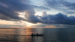 Fishermen at Sunrise  stock video