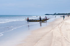 Fishermen on Tiku beach Royalty Free Stock Image