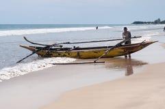 Fishermen on Tiku beach Royalty Free Stock Photos