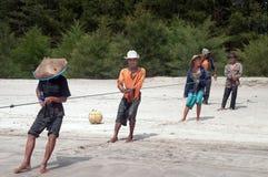 Fishermen on Tiku beach Stock Image