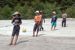 Fishermen on Tiku beach Stock Photography