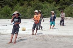 Fishermen on Tiku beach Stock Photography