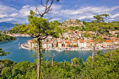 Fishermen town of Novigrad Dalmatinski Royalty Free Stock Photos
