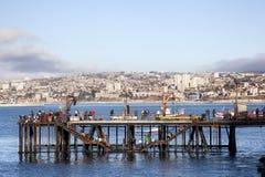Fishermen in Valparaiso Stock Photos