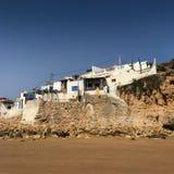 Fishermen village on the Atlantic coast Stock Image