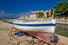 Fishermen village of Bibinje waterfront Royalty Free Stock Photos