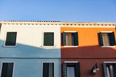Fishermen village of Burano, Venice Italy Stock Photos