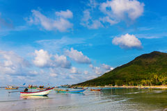 Fishermen village chaloklum bay coastline Royalty Free Stock Photos