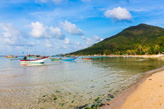 Fishermen village chaloklum bay coastline Royalty Free Stock Image